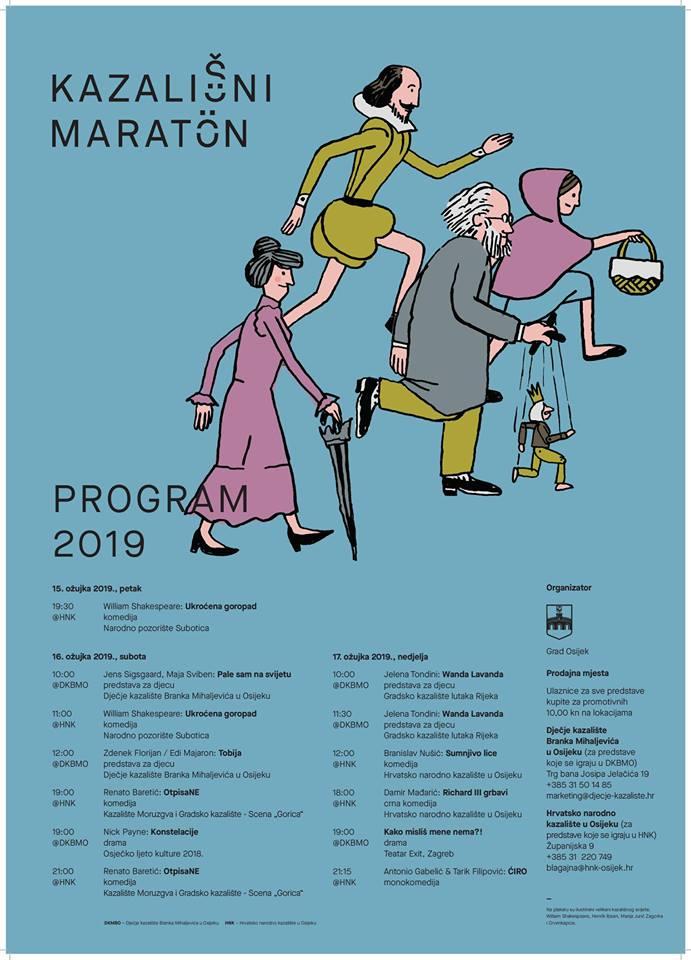 Kazališni Maraton Započinje Tri, četri, Sad!