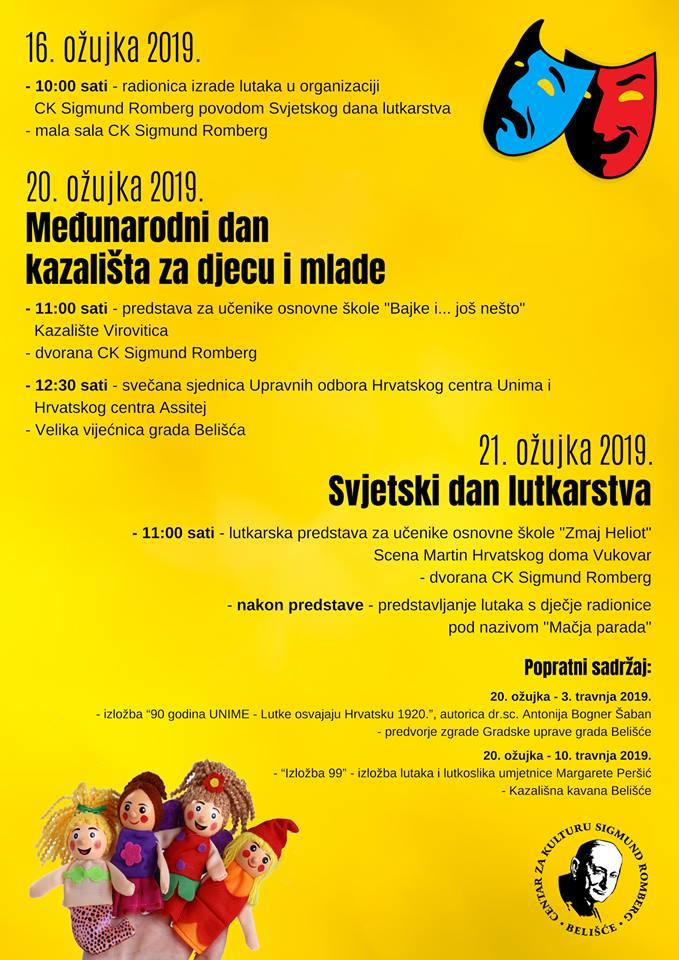 Međunarodni Dan Kazališta Za Djecu I Mlade I Svjetski Dan Lutkarstva 20. I 21. Ožujka